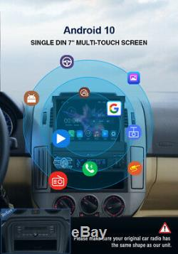 Pumpkin 7 Android 10.0 Single Din Car Stereo Head Unit Flip Out GPS DAB BT WIFI