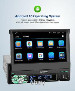 Pumpkin 7 Android 10.0 Single Din Car Stereo Head Unit Flip Out GPS DAB FM WIFI