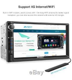 Pumpkin Android 7.1 Double DIN 7 Car Stereo GPS Sat Nav DAB+ OBD2 WiFi 4G Radio