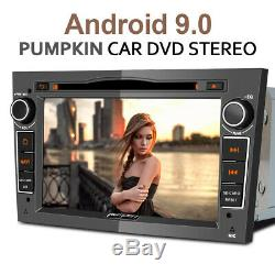 Pumpkin Android 9.0 Car Radio Sat Nav Bluetooth DVD USB DAB For Opel Astra Corsa