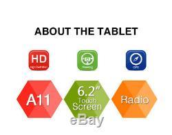 Pumpkin Double Din 6.2 Car DVD Player Stereo Radio GPS Sat Nav Bluetooth USB FM