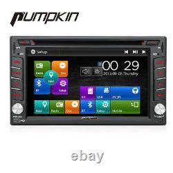 Pumpkin Double Din Car Stereo Radio Head Unit DVD BT GPS Sat Navi RDS FM Player