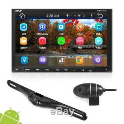 Pyle PLDNANDVR695 Android Car Stereo Double Din DVR Dash Cam Backup Kit