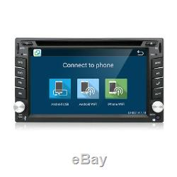 Quad Core Android 7.1 3G WIFI 6.2 Double 2DIN Car Radio Stereo GPS DVD Player