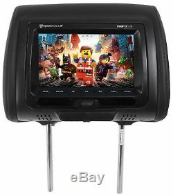 Rockville RDP711-BK 7 Car Headrest Monitors withDVD/USB/HDMI + Games + Headphones