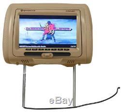 Rockville RTSVD961-BG 9 Beige Touchscreen Dual DVD/HDMI Car Headrest Monitors