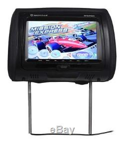 Rockville RTSVD961-BK 9 Black Touchscreen Dual DVD/HDMI Car Headrest Monitors