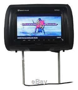 Rockville RVD951-BK 9 Black Dual DVD/USB/HDMI/SD Car Headrest Monitors + Games