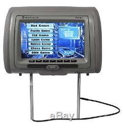 Rockville RVD951-GR 9 Grey Dual DVD/HDMI Car Headrest Monitors+2 Headphones