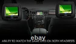 SONIC 2X7 Digital LCD TFT Screen CAR Headrest DVD Player Pillow Monitor, HR7A#