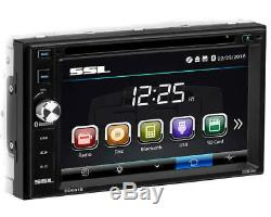 SSL Double-DIN w 6.2 Touchscreen DVD/Bluetooth/MP3/CD/Radio Car Stereo Receiver