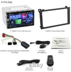 Saab 9-3 Car DVD Player 2007-2014 USB MP3 Stereo Radio Fascia Facia ISO Kit 93 G