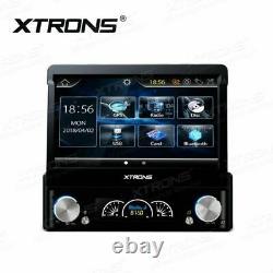 Single 1 DIN 7 HD Car Stereo Radio GPS CD DVD Player USB Bluetooth