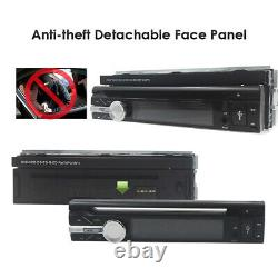 Single 1 Din Android 10.0 Car DVD GPS 7HD Flip Up Stereo Radio Player BT+Camera