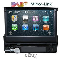 Single Din Car Radio Touch screen GPS SAT NAV Bluetooth DAB+FM DVD Player Stereo