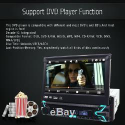Single One DIN 7 Car CD DVD Player GPS SAT NAV Bluetooth Stereo Radio Wireless