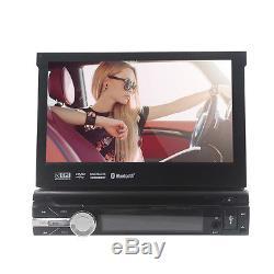 Single One DIN 7 HD Car CD DVD Player GPS SAT NAV Bluetooth Stereo Radio