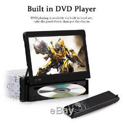 Single One DIN 7 HD Car CD DVD Player GPS SAT NAV Bluetooth Stereo Radio DAB+