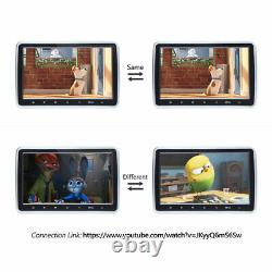 Slim HD 2x 10.1 Car DVD Player Headrest 1024x600 Monitor Pillow +IR 2xHeadset E