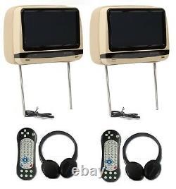 Soundstream Vhd-99 9 Universal Car Touchscreen DVD Headrest Monitors Beige Tan