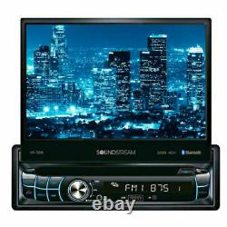 Soundstream Vr-720b 7 CD DVD Usb Aux Blutooth 300w Amplifier Car Stereo Radio