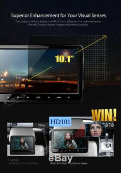 UK 10.1 Car Headrest DVD Player Monitor HDMI Touch Button Game FM IR TV USB SD
