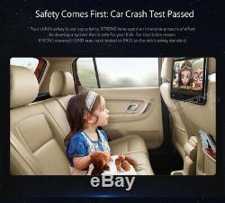 UK 10.1 Car Headrest DVD Player Monitor HDMI Touch Button Game FM IR TV USB SD