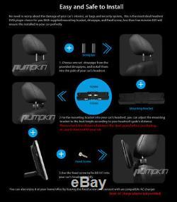 UK 2X Headrest 10.1 Car Digital Pillow DVD Player Touch Button HDMI + Headphone