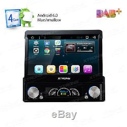 UK 7 Single 1 DIN Android 6.0 Car DVD Player Stereo Radio Motorized GPS Sat Nav