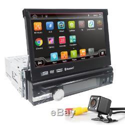 UK 7 Single 1 DIN Android 8.1 Car DVD Player Stereo Radio Motorized GPS Sat Nav