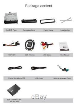 UK 7 Touch Screen Single Din 1 DIN Car Stereo Sat Nav DVD Player GPS Bluetooth