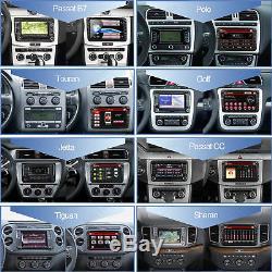 UK 8 2 DIN Car Stereo Head Unit GPS Sat Nav For VW GOLF PASSAT SKODA SEAT JETTA
