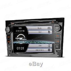 UK Car GPS Sat Nav Stereo DVD Player Radio for Opel Vauxhall Zafira Corsa Black