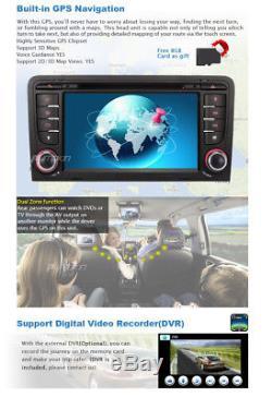 UK Free Camera Car Sat Nav IPOD DVD Player GPS For AUDI A3 Navigation Bluetooth