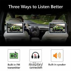 US Slim 2x 10.1 HD Screen Car Headrest DVD Player Pillow Monitor HDMI+Headset E