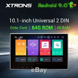 Universal 10.1 Android 9.0 Car Stereo DVD Player Double DIN GPS Radio Head Unit