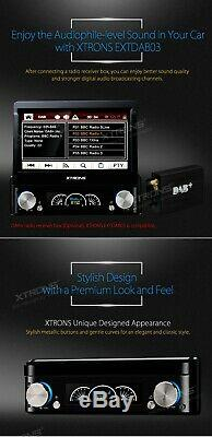 Universal 7 Car Stereo DVD Player Single 1 DIN Bluetooth DAB GPS Touch Screen