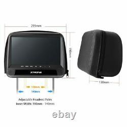 Universal 9 Twin Car Headrest Monitor Video DVD Player HDMI USB TV IR SD Pillow