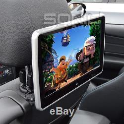 Universal Car HD Headrest DVD Player/Screen USB/SD Touch-Screen Rear Seat Games