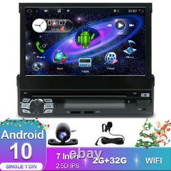 Universal Flip-Out Single 1 Din Android 10.0 GPS Car Stereo CD/DVD Player HD DAB