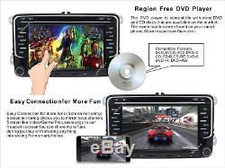 VW Golf Jetta Passat Caddy 7Car Radio Stereo DVD Player GPS Bluetooth Headunit
