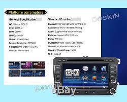 VW Golf MK5 MK6 Jetta Double DIN 7 Car Stereo Radio CD DVD Player Bluetooth MP3