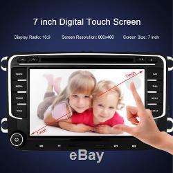 VW Golf MK5 MK6 Jetta Double DIN 7 Car Stereo SAT NAVI GPS DVD Player Bluetooth