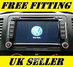 Volkswagen Radio SAT NAV DVD Player Bluetooth Handsfree Car Stereo Golf T5 GPS