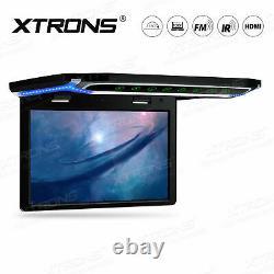 XTRONS 10.2 Car Roof Flip Down Monitor 1080P USB SD HDMI FM +Free IR Headphones