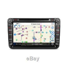 XTRONS 2DIN 8 Car Stereo Radio DVD Player GPS SAT NAV VW Golf MK5 PASSAT SEAT