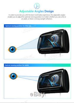 XTRONS 2X 9 Adjustable Touch Screen Monitor Car Headrest Pillow DVD Player HDMI