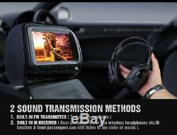 XTRONS 2X 9 Universal Digital Car Headrest CD DVD Player Back Seat Monitor Game