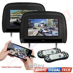 XTRONS 2x 9 Car Auto Headrest DVD Player HDMI Digital Monitors Game System IR