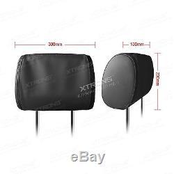 XTRONS 2x 9 Car Headrest Pillow DVD Player Games Digital Screen Monitor Headset